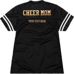 Golden Metallic Custom Cheer Mom