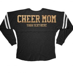 Golden Metallic Custom Cheer Mom