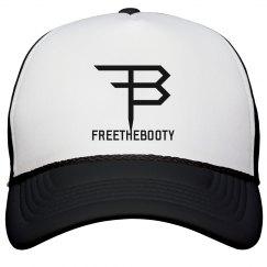 FREETHEBOOTY TRUCKER HAT BLACK/WHITE