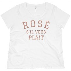Rose Gold Metallic Rosé Plus Tee