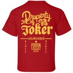 Property Of Joker Kids Shirt