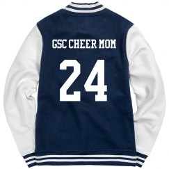 GSC LADIES FLEECE LETTERMAN VARSITY JACKET