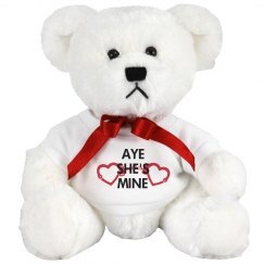 Aye She's Mine Valentines Bear