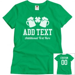 Custom Green Group Drinking Tees