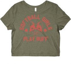Softball Dogs Play Ruff