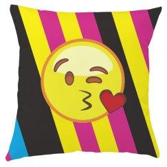 Emoji Kisses Valentines Throw Pillow
