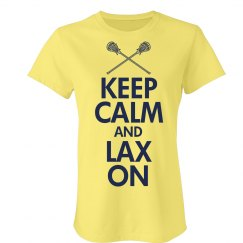 Keep Calm Lax On Lacrosse Pride Tee