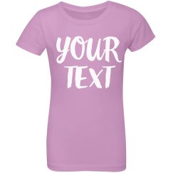 Your Text Personalized Little Girl