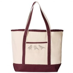 3 Abstract Crows tote