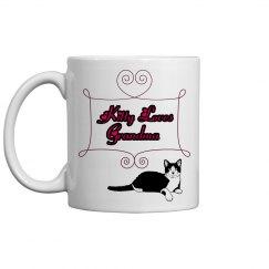 Kitty loves grandma - Coffee mug