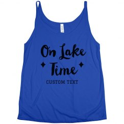 On Lake Time Script Flowy Summer Trip Tank