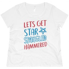 Plus Size 4th Of July Drinking Tee
