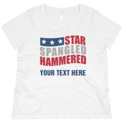 Personalized Star Spangled Hammered
