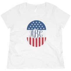 Personalized Monogram Sorority July 4th