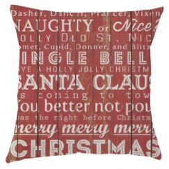 Rustic Christmas Pillow