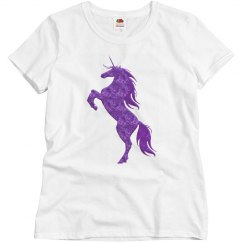 Purple Fire Unicorn Shirt