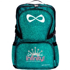 JR. MISS INFINITY Logo Sparkle Backpack