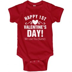 Custom First Valentine's Day Onesie