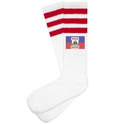 Red Skee Haiti Socks