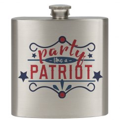 4th of July Party Flask