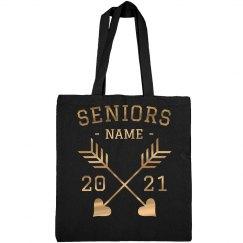 Metallic Custom Seniors Tote