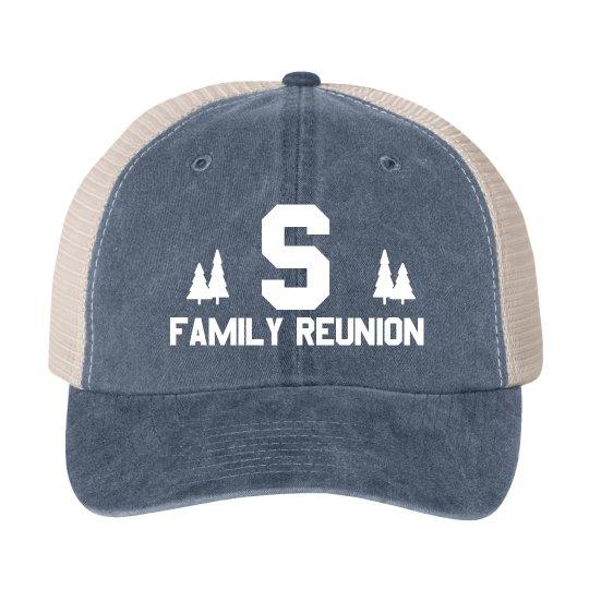 7700289a Custom Initial Reunion Tree Hat Cotton Twill Snapback Trucker Hat