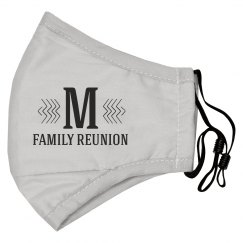 Custom Initial Reunion Face Mask