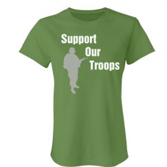 Support Our Troops Green