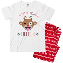 Emoji Lil' Helper Xmas Pajamas
