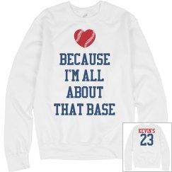 Trendy All About That Base Baseball Girlfriend Sweater