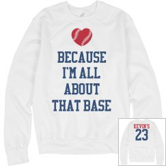 Trendy All About That Base Baseball Girlfriend Sweater