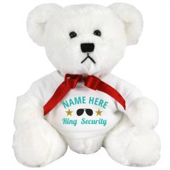 Custom Name Ring Bearer Security Bear