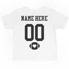 Custom Toddler Football Team & Number Tee