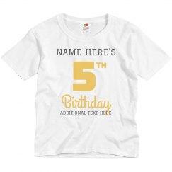 Custom Matching Group Birthday