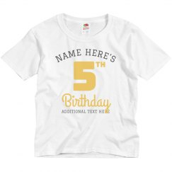 Custom Matching Group Birthday