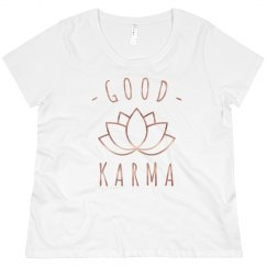 Good Karma Rose Metallic Plus Tee