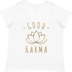 Good Karma Rose Metallic Plus Tee
