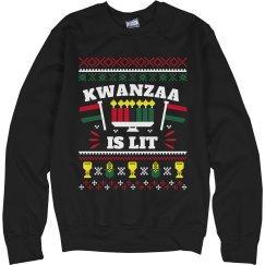 Kwanzaa Is Lit Ugly Sweater