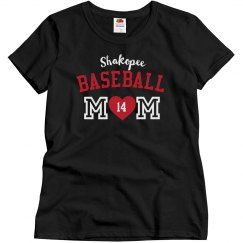 Basic Baseball Mom, Black