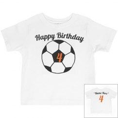 Soccer theme 4th birthday