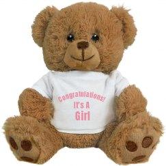 GSC Congratulations It's A Girl Teddy
