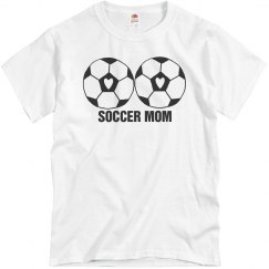Soccer Mom Love Heart Soccerball