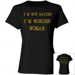 Misses Wonder Woman Good Time Tee