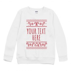 Add Your Text Youth Custom Sweater