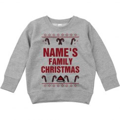 Toddler Custom Name Family Christmas Sweater