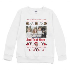 Custom Sibling Youth Ugly Sweater