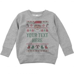 Your Text Santa Knit Sweater