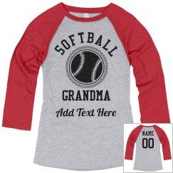 Custom Softball Grandma Fan