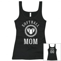 Trendy Custom Softball Mom Fan
