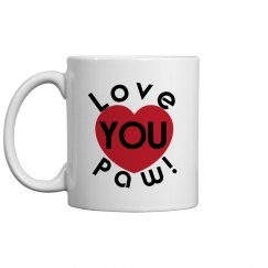 Love You Paw Coffee Cup/Mug